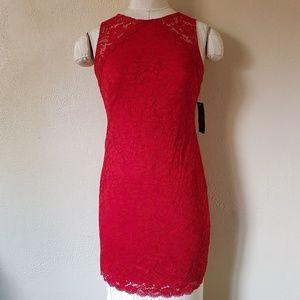 Ralph Lauren Lauren Lace Sleeveless Shift Dress